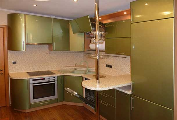 кухня дизайн фото с барной стойкой
